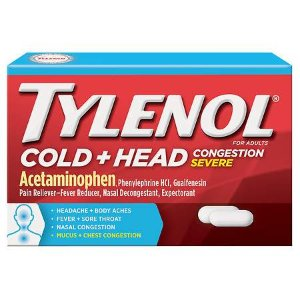 TYLENOL Cold Head Congestion Severe Caplets | Walgreens