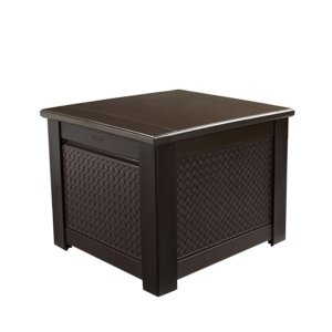 Rubbermaid 56 Gal. Chic Basket Weave Patio Storage Cube Deck Box in Brown-1859929 - The Home Depot