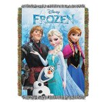 Northwest Frozen, Frozen Fun Woven Tapestry Throw, 48