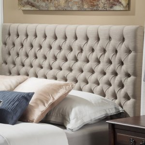 Jezebel Adjustable Full/ Queen Button Tufted Headboard by Christopher Knight Home - Free Shipping Today - Overstock.com - 15881561
