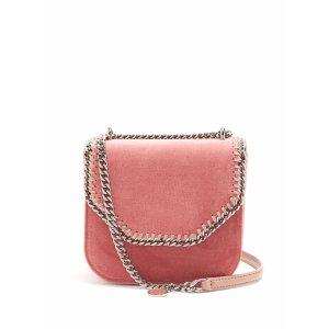 Falabella Box mini velvet cross-body bag