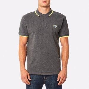 KENZO Men's Slim Fit Polo Shirt - Dark Grey