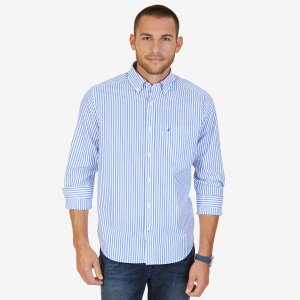 Classic Fit Wrinkle Resistant Striped Shirt