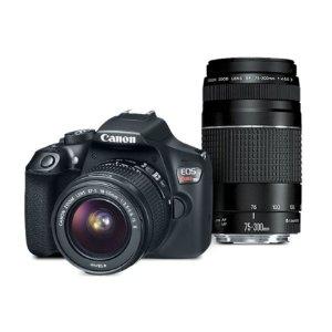 $296.99EOS Rebel T6 EF-S 18-55 with EF 75-300mm f/4-5.6 III Refurbished