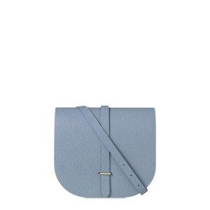French Grey Grain Large Saddle Bag | The Cambridge Satchel Company