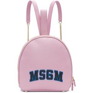 MSGM: Pink Logo Backpack