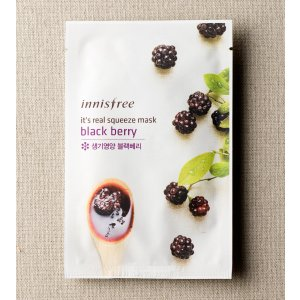 SKIN CARE - It's real squeeze mask - blackberry | innisfree