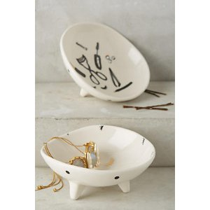 Patterned Ceramic Trinket Dish | Anthropologie