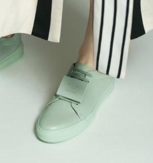 Acne Studios Green Adriana TurnUp Sneakers