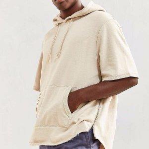 Scoop Short Sleeve Hoodie Sweatshirt | Urban Outfitters