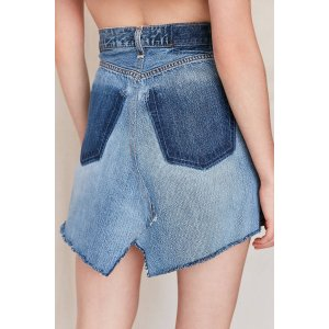 Urban Renewal Remade Notched Denim Mini Skirt | Urban Outfitters