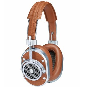 Master & Dynamic MH40 Noise-Isolating Over-Ear Headphones, Cognac/Silvertone