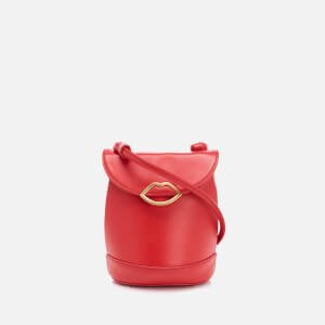 Lulu Guinness Women's Joanna Smooth Leather Cross Body Bag - Coral
