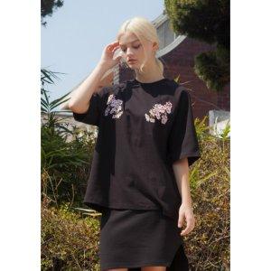 SAKURA RAGLAN T-SHIRTS BLACK PINK