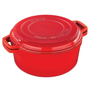 Staub Cast Iron 7-qt Braise & Grill - Visual Imperfections - Cherry