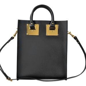 Albion Mini Tote Bag Sophie Hulme Black - Monnier Frères
