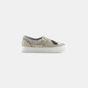 Chiara Ferragni Lock and Key Flirting Glitter Slip-On Sneaker Sneakers | ELEVTD Free Shipping & Returns