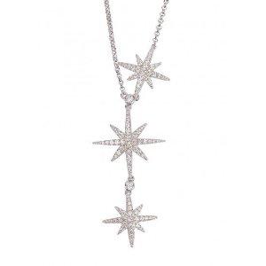Crystal-embellished star necklace
