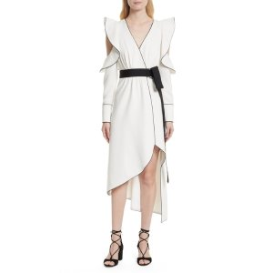 Cold Shoulder Asymmetrical Dress