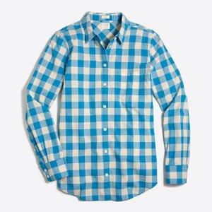 Lightweight homespun shirt in boy fit : Button-Ups | J.Crew Factory