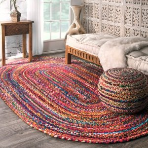 nuLOOM Casual Handmade Braided Cotton Multi Rug (3' x 5' Oval) - Free Shipping Today - Overstock.com - 17418783