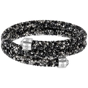 Crystaldust Bangle Double, Dark Crystals - Jewelry - Swarovski Online Shop