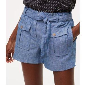 Chambray Safari Shorts | LOFT