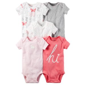 Baby Girl 5-Pack Short-Sleeve Original Bodysuits | Carters.com