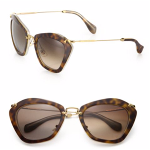 Miu Miu - Noir Catwalk Cat Eye Sunglasses - saks.com