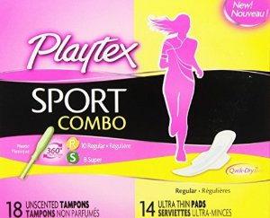 $2.5Playtex Sport Combo Pack with Regular and Super Tampons and Ultra Thin Pads with Wings - 32 Count