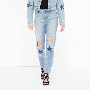 Straight Cut Jeans - Beads And Patches - Jeans - Sandro-paris.com