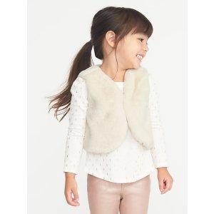 Faux-Fur Vest for Toddler Girls