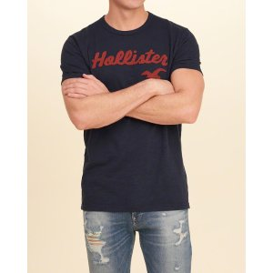 Guys Applique Logo Graphic Tee | Guys Clearance | HollisterCo.com