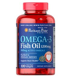 6 for $23.98Puritan's Pride Omega-3 Fish Oil 1200 mg