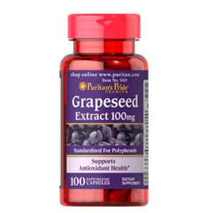 Grapeseed Extract 100 mg 100 Capsules | Antioxidants Supplements | Puritan's Pride