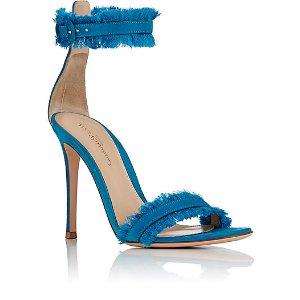 Gianvito Rossi Fringed Portofino Ankle-Strap Sandals | Barneys New York