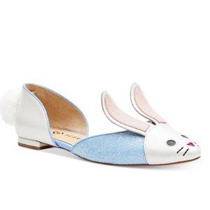 Katy Perry Jessica 天蓝色萌兔平底鞋