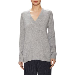 Wool Ribbed V Neck Sweater by Vince at Gilt
