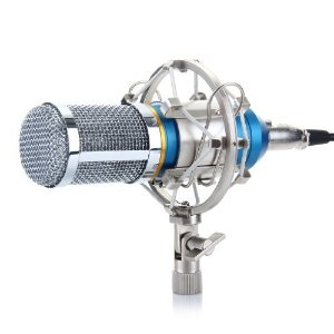 $16.99 #1 Best sellerLightning deal Excelvan BM-800 Condenser Studio Recording Microphone and Shock Mount Holder Blue