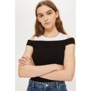 Knitted Bardot Top - New In Fashion - New In
