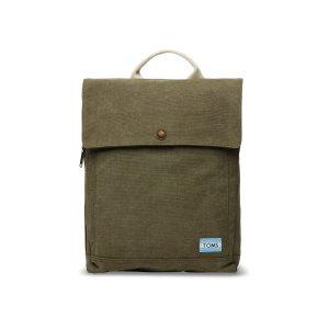 Olive Washed Canvas Trekker Backpack   TOMS®