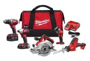 $279 (原价$559)Milwaukee M18 18-Volt 锂电工作套装(5件套)