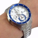 Casio Men's 'EDIFICE' Quartz Stainless Steel Casual Watch EFM-502D-7AVCF