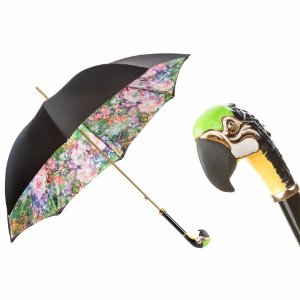 Pasotti Luxury Parrot Umbrella, Double Cloth | Unineed | Premium Beauty