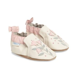 Robeez® Rosealean Crib Shoe (Baby) | Nordstrom