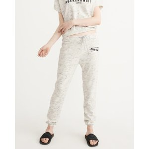 Womens Logo Banded Sweatpants | Womens Clearance | Abercrombie.com