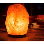 Hemingweigh 2 Pack Of Hand Carved Himalayan Salt Lamp with Genuine Wood Base / Bulb and Dimmer Control | 6 - 8 Inches | 6 - 7 lbs