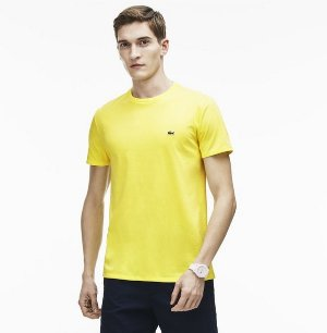 $33.99($49.5)Lacoste Men's Crew Neck Pima Cotton Jersey T-Shirt