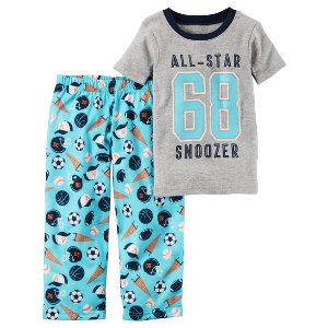 Toddler Boy 2-Piece Cotton & Jersey PJs | Carters.com