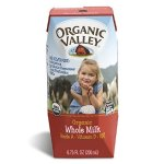 Organic Valley, Organic Whole Milk, 6.75 fl oz (Pack of 12)